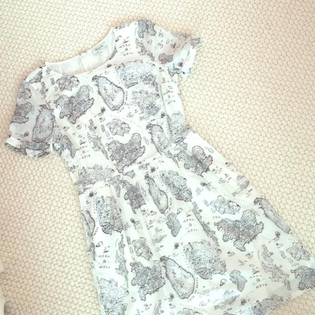 Madewell short dress White and black Map Geography Cute Daytime on Tradesy Image 3