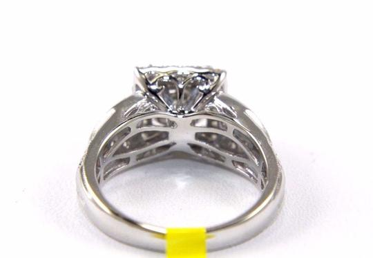 Other Princess Cut Diamond Square Cluster Ring Band 14k White Gold 1.90Ct Image 2