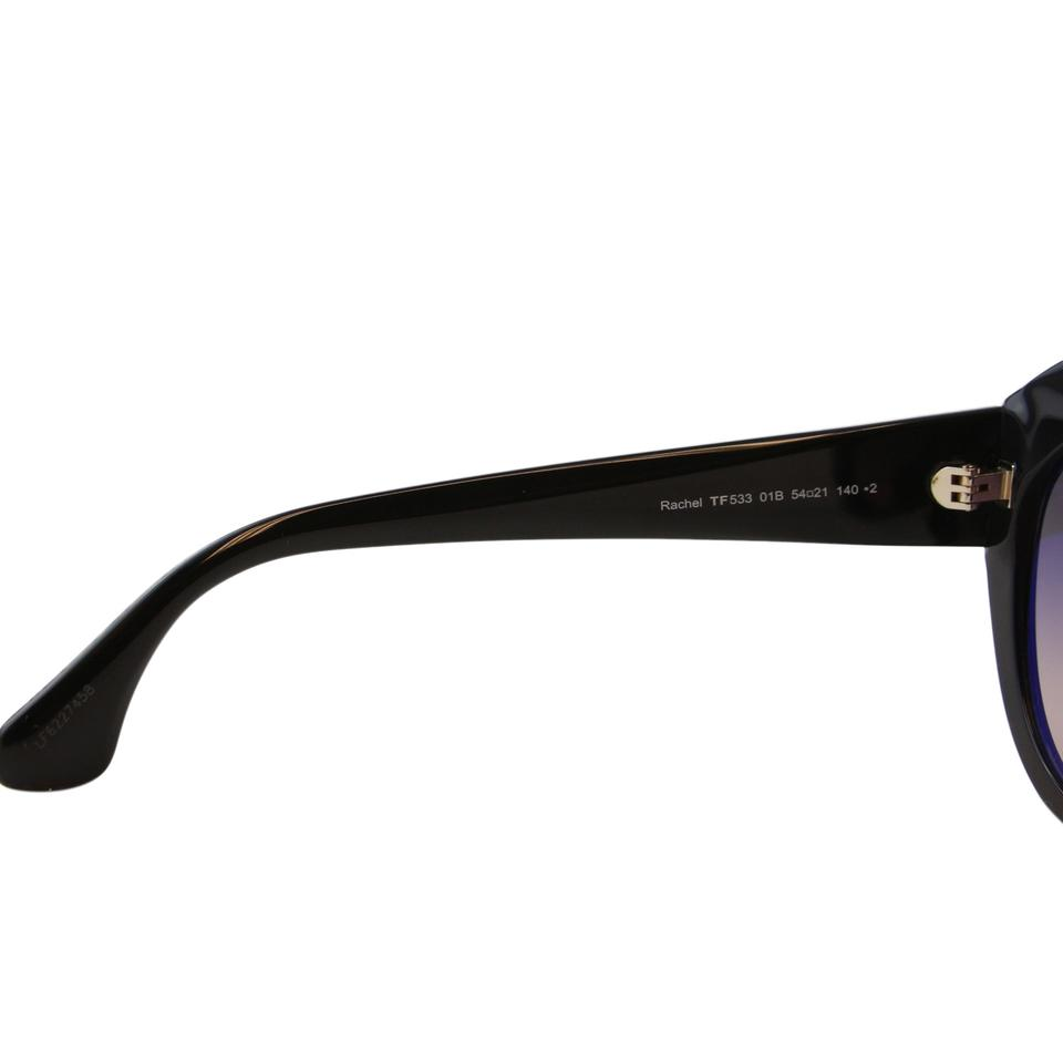 603deb83972 Tom Ford New Tf Rachel FT0533 01B Thick Frame Round T Logo Sunglasses 54mm  Image 8. 123456789