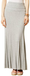 Anthropologie Striped Knit Flare Maxi Skirt