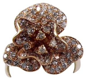 Other Rose Flower Shape Cluster Diamond Lady's Ring 14k Rose Gold 2.53Ct