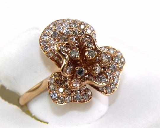 Other Rose Flower Shape Cluster Diamond Lady's Ring 14k Rose Gold 2.53Ct Image 1