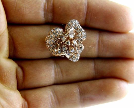 Other Rose Flower Shape Cluster Diamond Lady's Ring 14k Rose Gold 2.53Ct Image 3