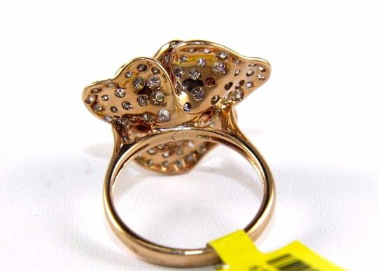 Other Rose Flower Shape Cluster Diamond Lady's Ring 14k Rose Gold 2.53Ct Image 7