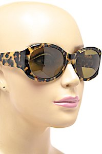 Morgenthal-Frederics MORGENTHAL FREDERICS Brown Tortoise Wrap SUNGLASSES with Green Lens