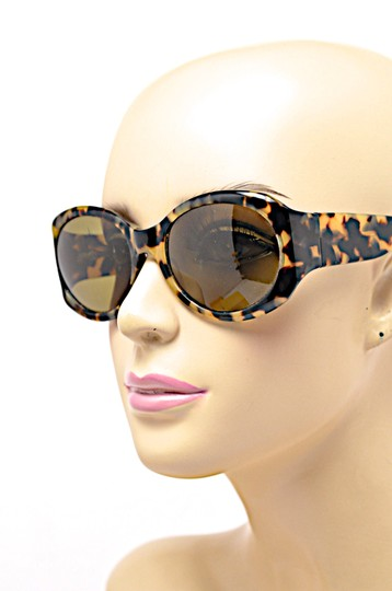 Morgenthal-Frederics MORGENTHAL FREDERICS Brown Tortoise Wrap SUNGLASSES with Green Lens Image 5