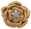 Other Rose Diamond Flower Shape Cluster Milgrain Ring 18k Rose Gold .34Ct Image 0