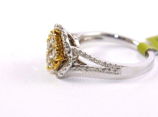 Other Fancy Yellow Diamond Square Cluster Lady's Ring 14k White Gold 1.32Ct Image 3