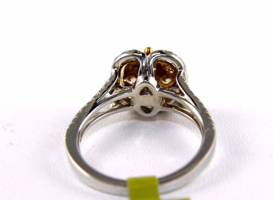 Other Fancy Yellow Diamond Square Cluster Lady's Ring 14k White Gold 1.32Ct Image 4