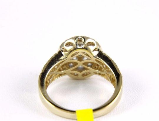 Other Round Cluster Diamond Engagement Ring w/Accents 14k Yellow Gold 1.80Ct Image 2