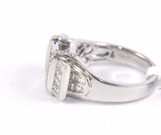 Other Princess Cut Diamond Cluster Invisible Ring Band 18k White Gold 1.24Ct Image 2