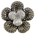 Other Round Fancy Color Diamond Flower Shape Cluster Ring 18k WG 2.62Ct Image 0