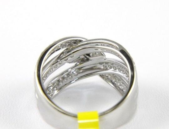 Other Round Diamond Criss Cross Weave Lady's Ring Band 14K White Gold 1.42Ct Image 3