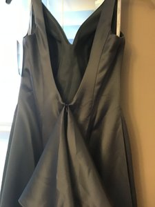 Bill Levkoff Gray Satin Mother Of The Bride/ Modern Bridesmaid/Mob Dress Size 8 (M)