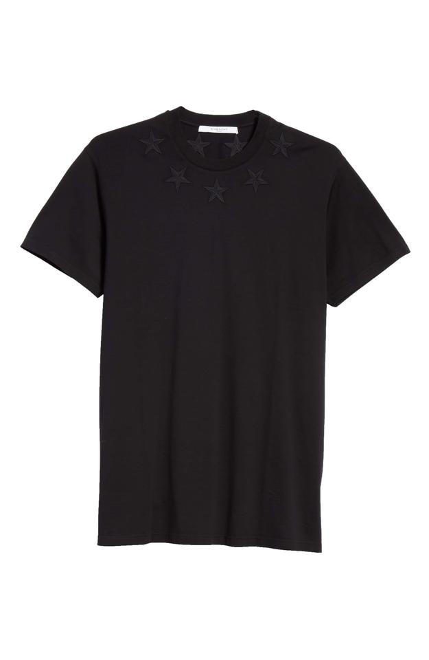 5847fe745ef866 Givenchy Black Classic Embroidered Star Oversized Tee Shirt Size 12 ...