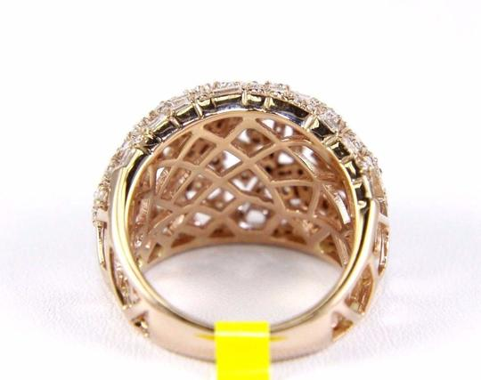 Other Round & Baguette Cluster Diamond Dome Cigar Ring Band 14k RG 1.90Ct Image 6