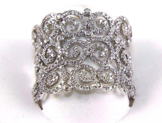 Preload https://img-static.tradesy.com/item/24600241/white-round-diamond-cluster-filigree-spiral-band-14k-gold-98ct-ring-0-1-540-540.jpg