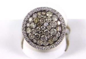 Other Round Diamond Multi Tone Cluster Lady's Ring 14k White Gold 2.16Ct