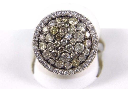 Preload https://img-static.tradesy.com/item/24600246/yellow-and-silver-round-diamond-multi-tone-cluster-lady-s-14k-white-gold-216ct-ring-0-1-540-540.jpg