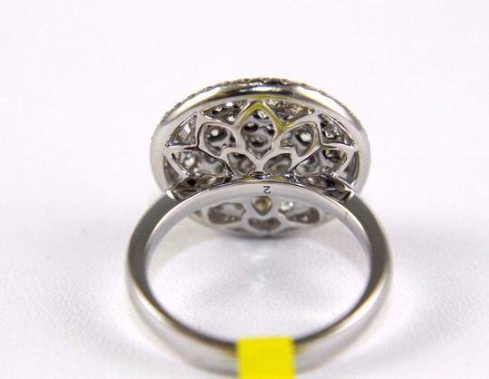Other Round Diamond Multi Tone Cluster Lady's Ring 14k White Gold 2.16Ct Image 2
