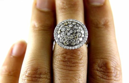 Other Round Diamond Multi Tone Cluster Lady's Ring 14k White Gold 2.16Ct Image 4