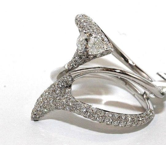 Other Bypass Diamond Pear Cluster Pave Ring Band 18k White Gold 1.53Ct Image 1