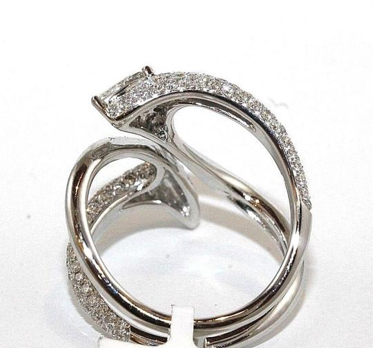 Other Bypass Diamond Pear Cluster Pave Ring Band 18k White Gold 1.53Ct Image 2