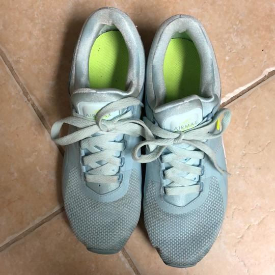 Nike baby blue with neon yellow swoosh Athletic Image 2