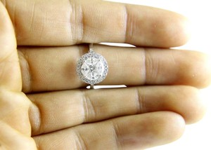 Other Round Oval Princess Cut Diamond Cluster Lady's Ring 14k WG 1.32Ct