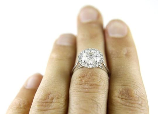 Other Round Oval Princess Cut Diamond Cluster Lady's Ring 14k WG 1.32Ct Image 1
