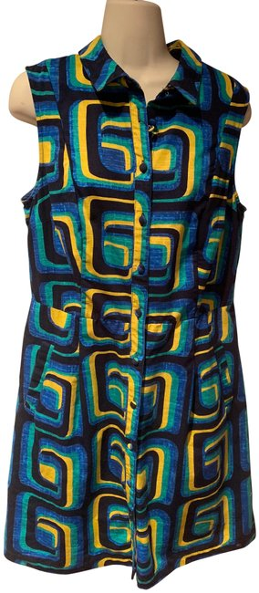 Preload https://img-static.tradesy.com/item/24600377/boden-blue-green-yellow-iris-short-casual-dress-size-10-m-0-1-650-650.jpg
