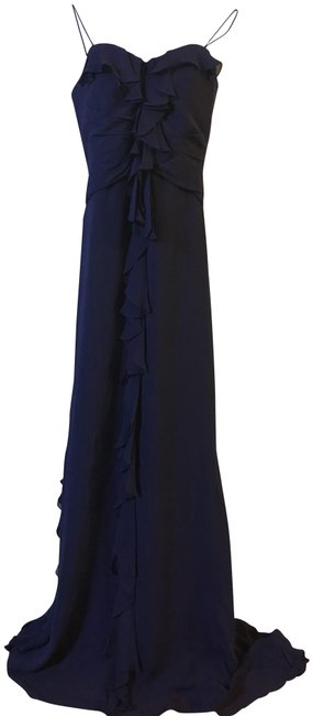 Preload https://img-static.tradesy.com/item/24600407/badgley-mischka-blue-marina-silk-strapless-ruffle-front-gown-long-formal-dress-size-4-s-0-1-650-650.jpg