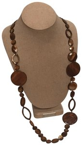 Stella & Dot Mocha Disc Necklace