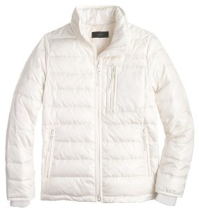 J.Crew Lightweight Puffer White Jacket