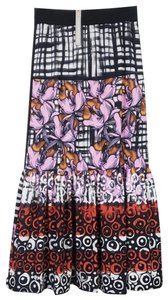 Clover Canyon Maxi Skirt Black Multi Color
