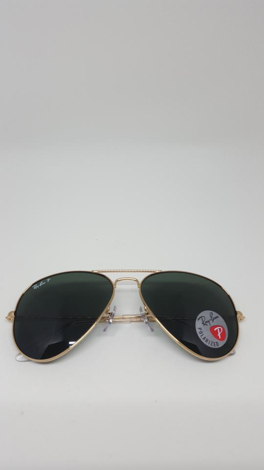f45f97c912 ... Ray-Ban RB3025 001 58 Gold Aviator Classic Polarized Sunglasses Image.  123456789101112
