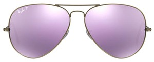Ray-Ban Ray-Ban Aviator Polarized Lilac Flash Lens Unisex Sunglasses