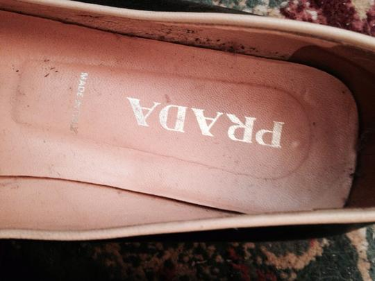 Prada Leather Designer Two Tone Comfortable Casual Rubber Soles Barely Used Chic Stylish Fun Detailed Vintage black white Flats Image 1