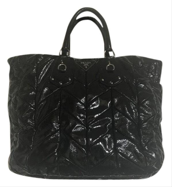 Item - Style Bn1542 Black Patent Leather Tote