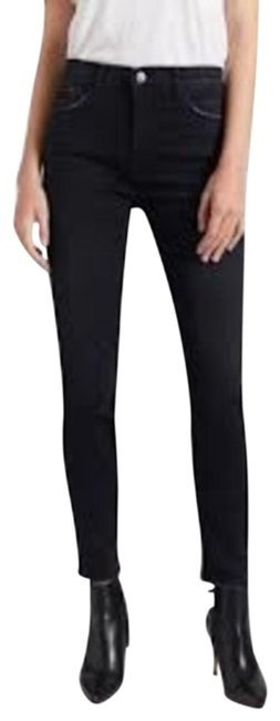 Current/Elliott Black Dark Rinse Current/Elliott High-waisted Stilletto In Rocco Skinny Jeans Size 27 (4, S) Current/Elliott Black Dark Rinse Current/Elliott High-waisted Stilletto In Rocco Skinny Jeans Size 27 (4, S) Image 1