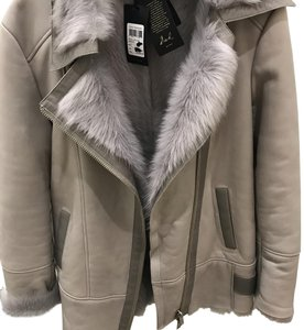 Reiss Grey Leather Jacket