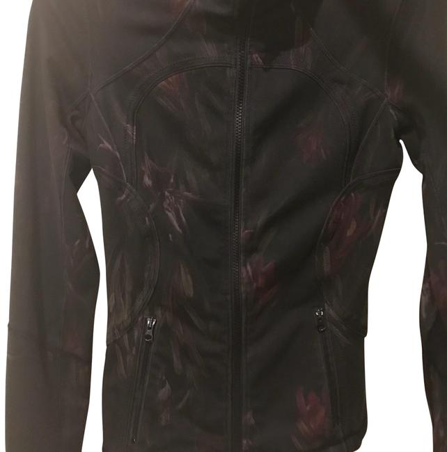 Item - Black with Rose Print Activewear Outerwear Size 2 (XS)