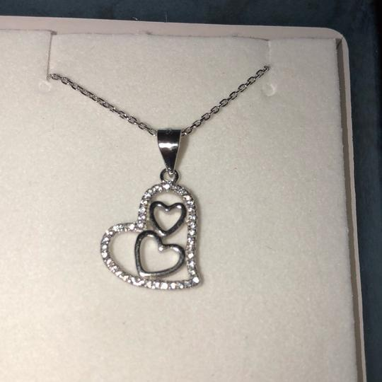 Sterling Silver Necklace Beautiful triple heart necklace