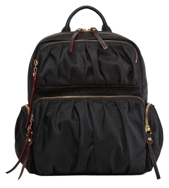 Item - Maddie Black with Gold Hardware Nylon Backpack