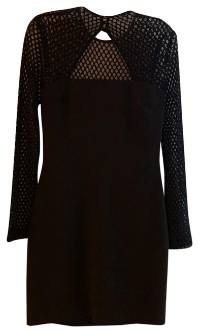 Preload https://img-static.tradesy.com/item/24602325/nicole-miller-black-openwork-crepe-short-cocktail-dress-size-6-s-0-1-650-650.jpg