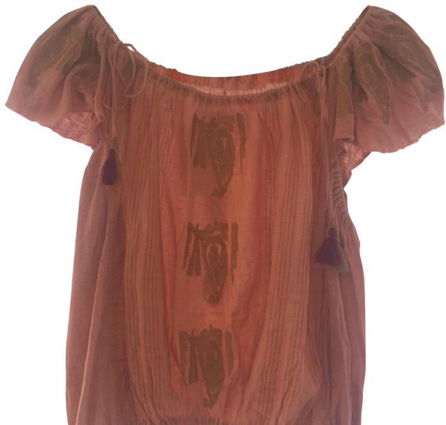 Preload https://img-static.tradesy.com/item/24602386/free-people-coral-embroidered-boho-peasant-blouse-size-0-xs-0-1-650-650.jpg