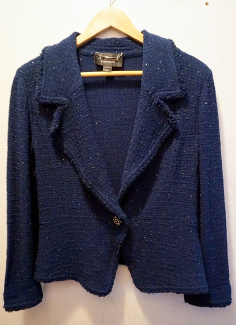 St. John Chanel Couture Knits Chanel Jacket Teal Blue Blazer