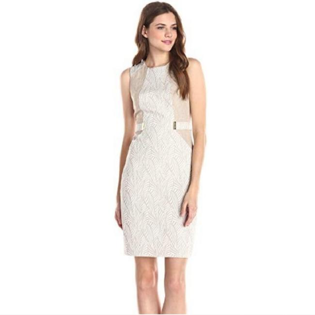 Preload https://img-static.tradesy.com/item/24602563/calvin-klein-yellow-and-white-cd5e26g8-short-workoffice-dress-size-4-s-0-0-650-650.jpg