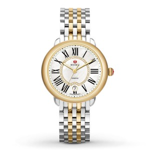 Michele Silver Gold Stainless Mother of Pearl Diamond Dial MWW21B000015