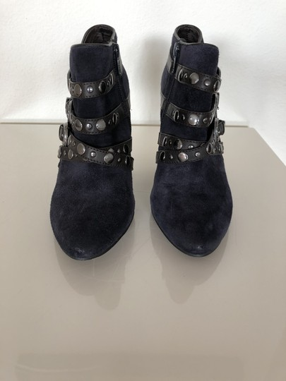 Ash Leather Dark Blue Suede Boots